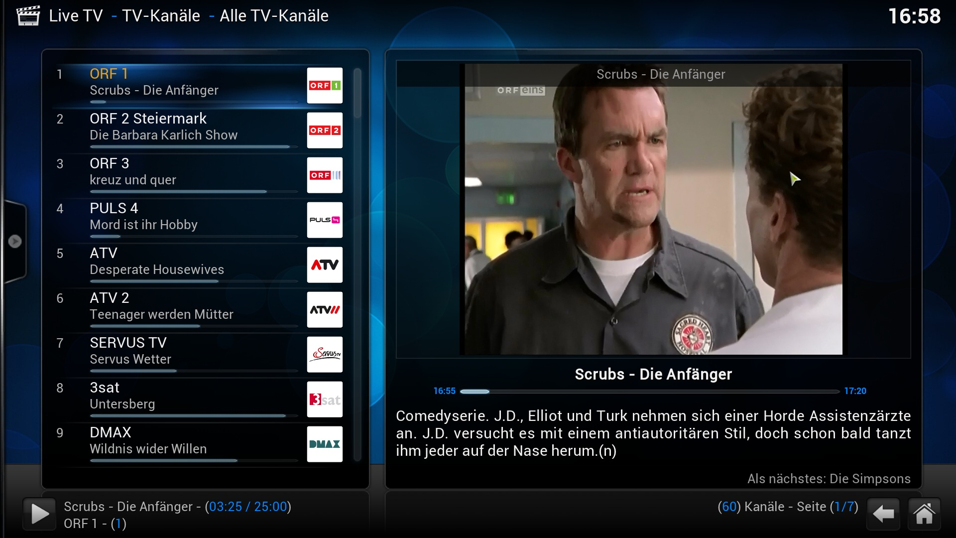 A1 TV XBMC Live TV Rasperry & Windows  - Screen 1.jpg