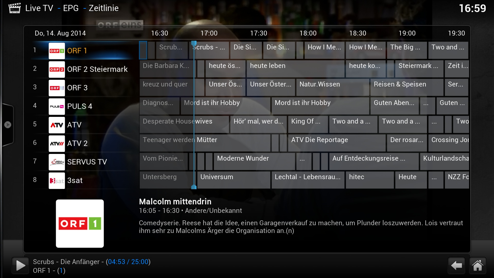 A1 TV XBMC Live TV Rasperry & Windows  - Screen 2.jpg